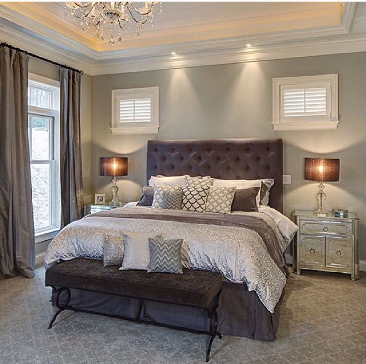 Pin On Master Bedroom Ideas: Soft Master Bedroom Wall Color. Love The Curtains