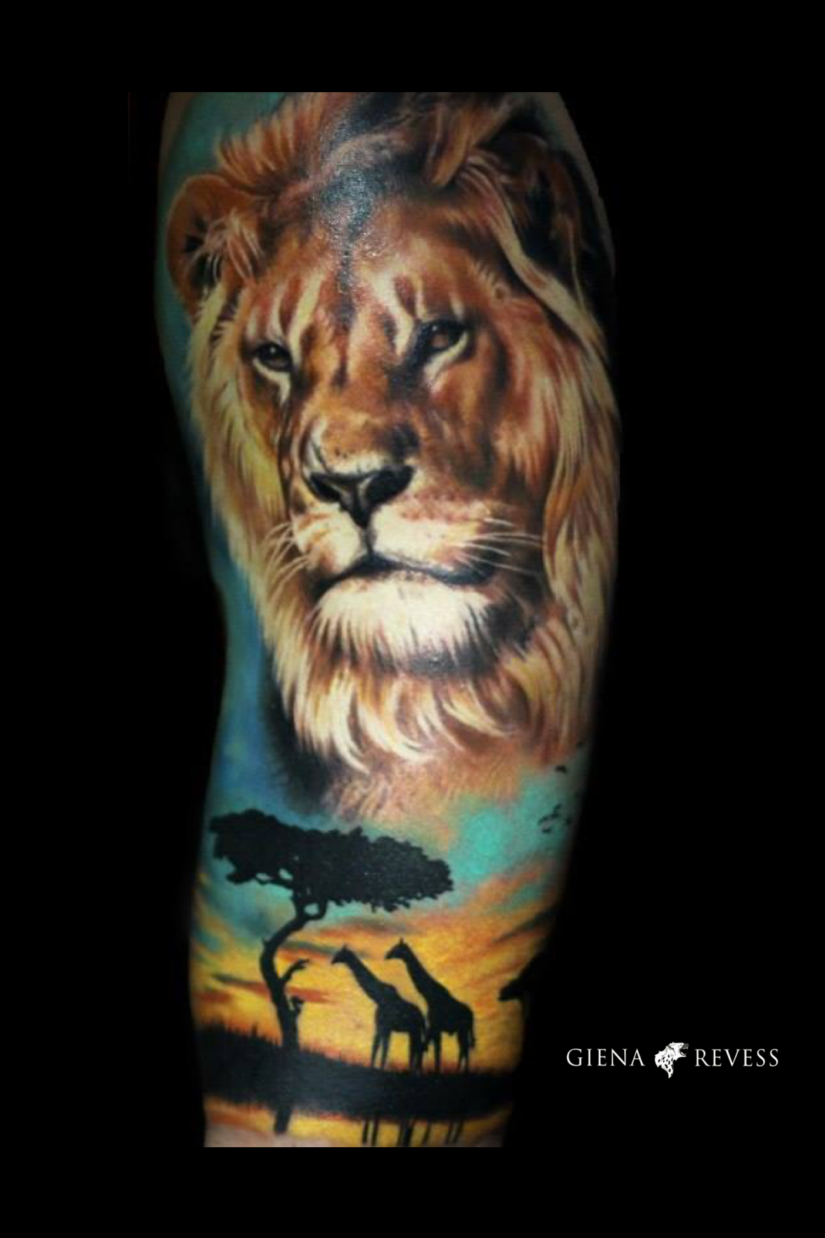 Realistic Lion Tattoo Made By Giena Revess Arm Tattoo Lion Tattoo Animal Tattoos Animal Tattoo