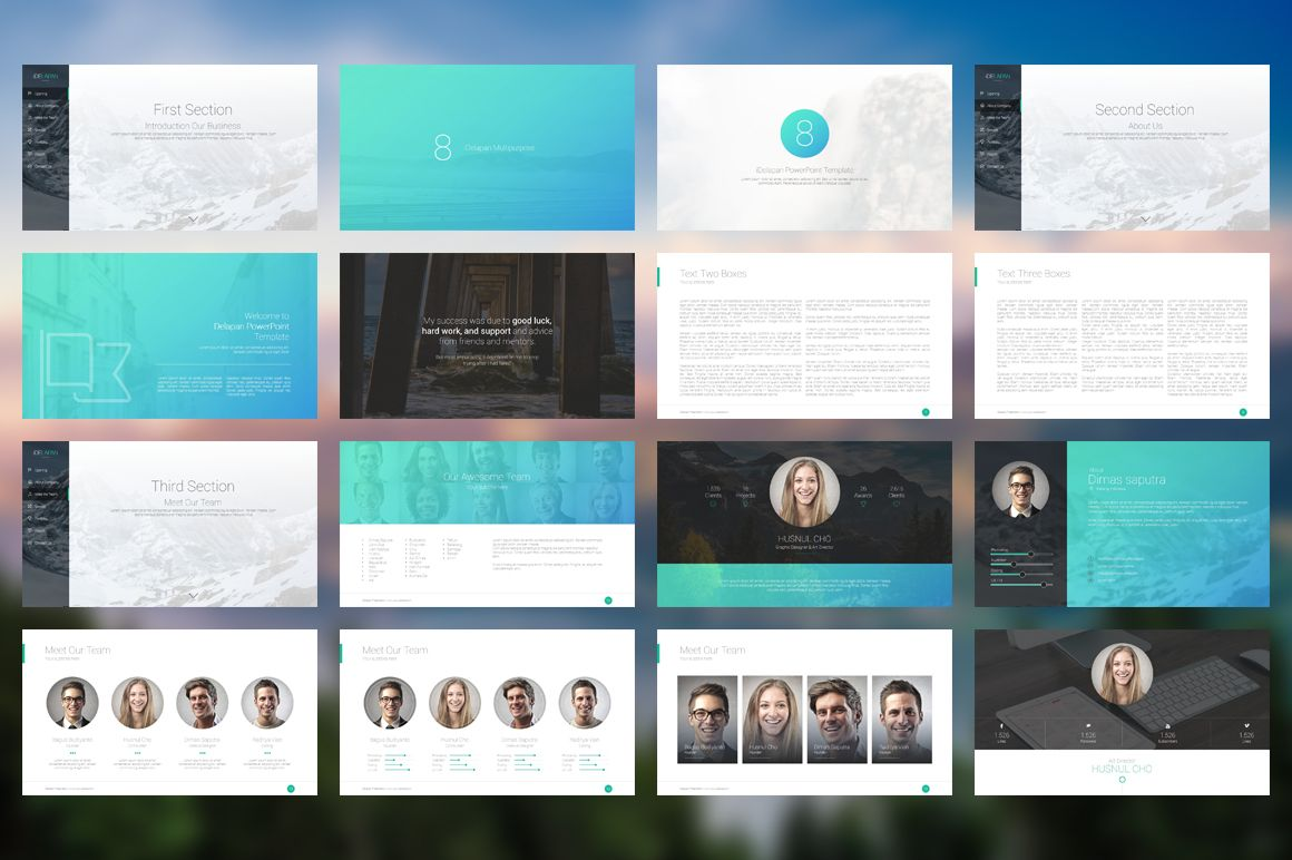 Idelapan powerpoint template template presentation design and idelapan powerpoint template toneelgroepblik Gallery