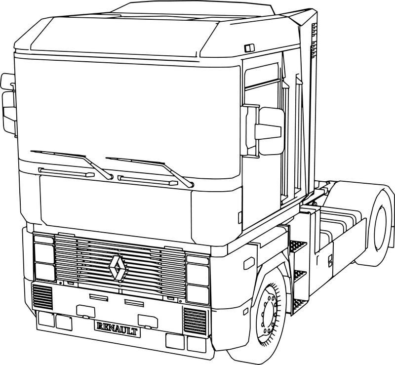 Renault Magnum Long Vehicle Truck Coloring Page Truck Coloring