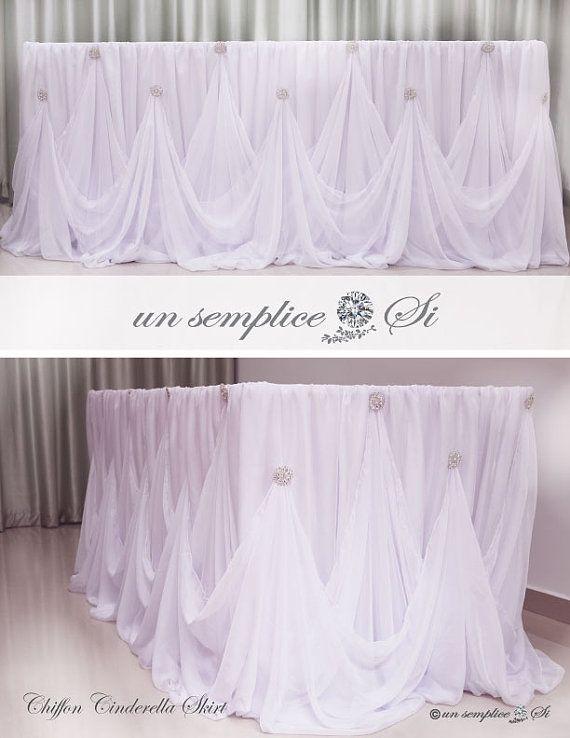 Cinderella Table Skirt Hochzeit Head Table Wedding Wedding