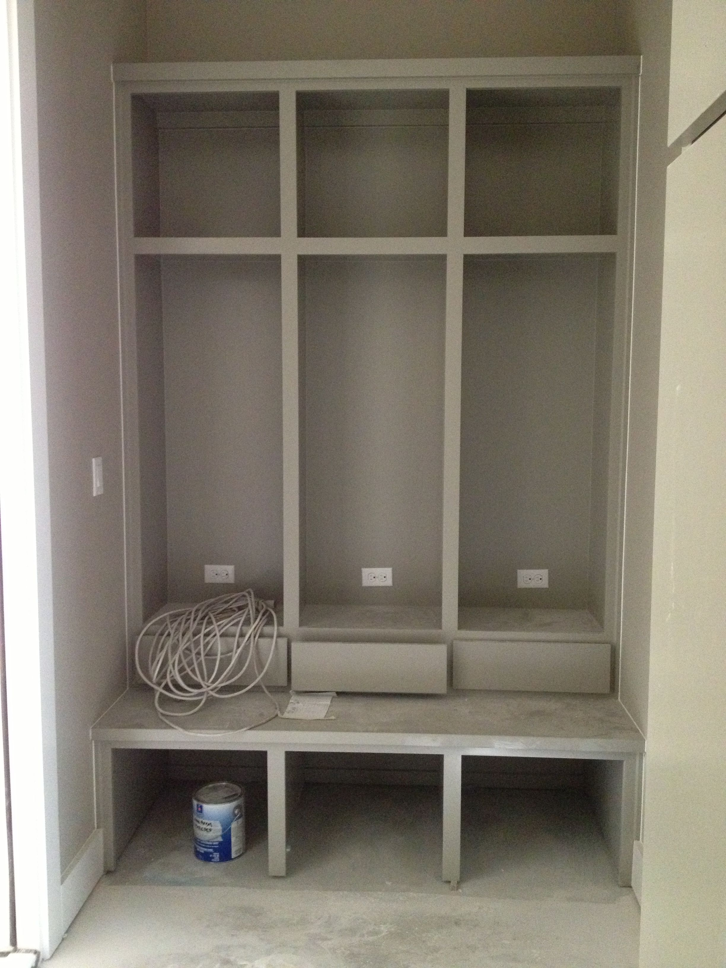 Mud Room Storage With Charging Stations