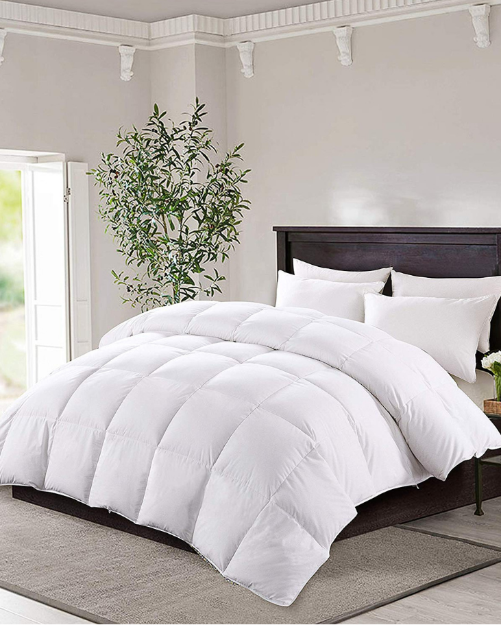 This Premium Duck Down Comforter Set Is Filled With 100 Feather