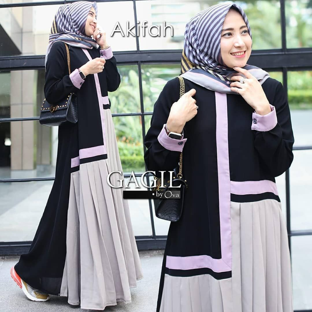 AKIFAH DRESS Gagil by ova  Model pakaian muslim, Pakaian wanita