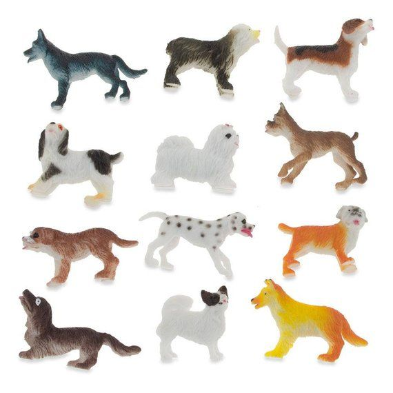 2 Set Of 12 Plastic Dogs In 2020 Dogs Pets For Sale Little Dogs