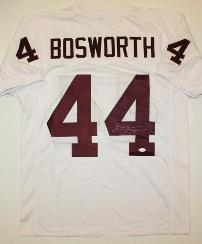 ... aaa sports memorabilia llc brian bosworth oklahoma sooners ncaa hand  signed authentic style white jersey a9852eec3
