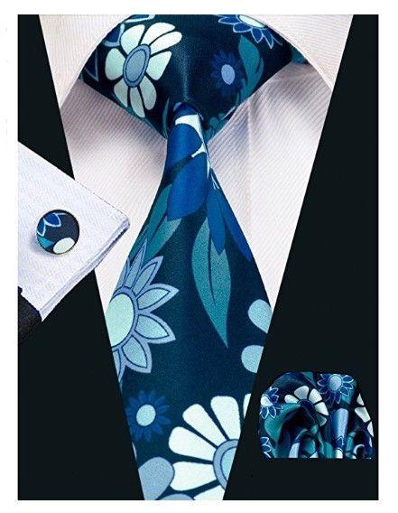 3pc Designer Floral Necktie Set