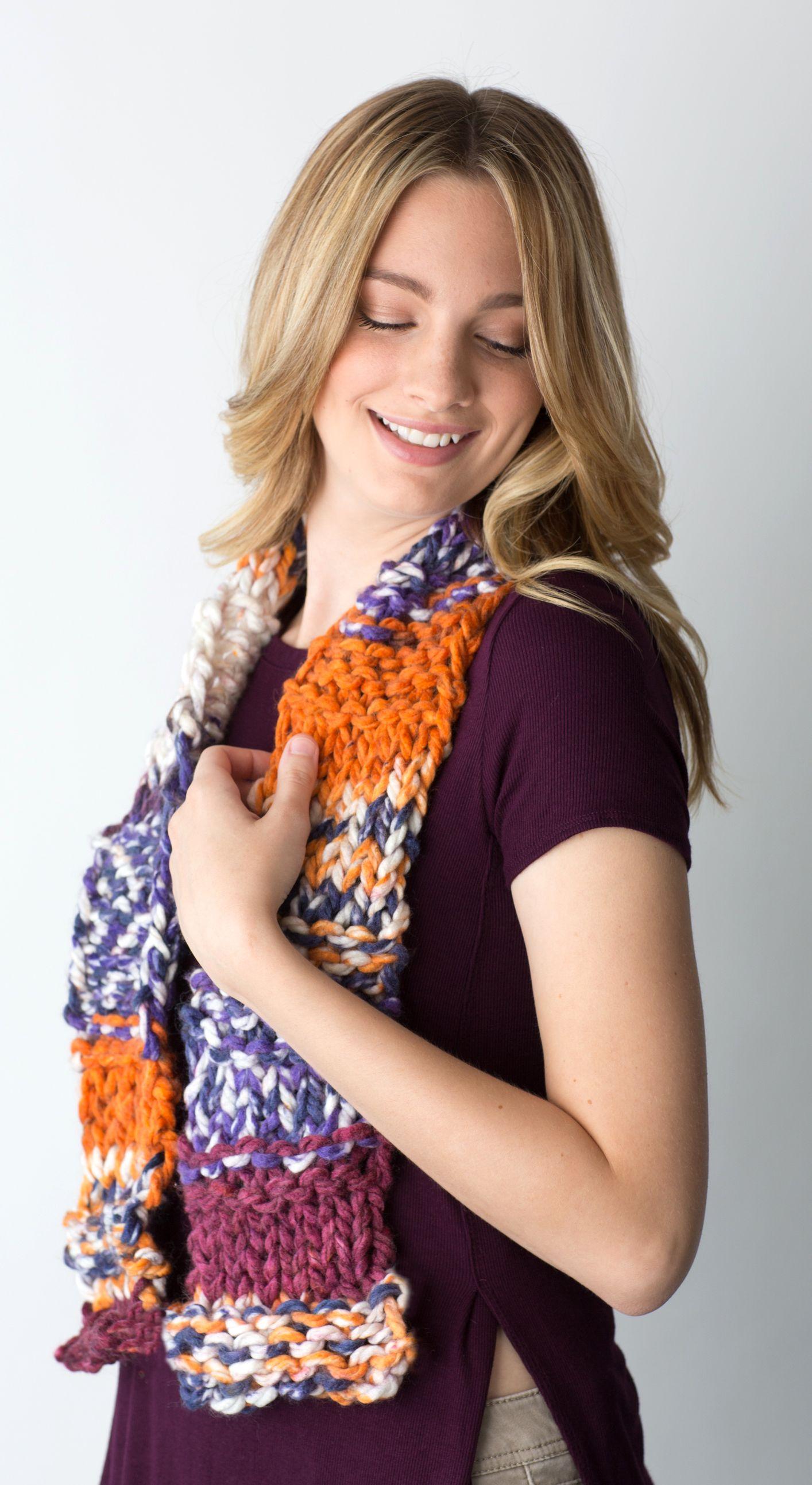 Dakota Zippy Scarf   Free Knitting Loom Patterns   Pinterest ...