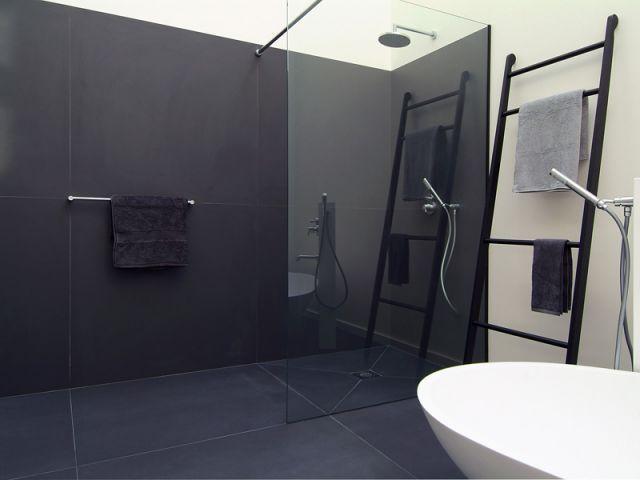 douche à l\'italienne noir - Recherche Google | Salle de bain ...