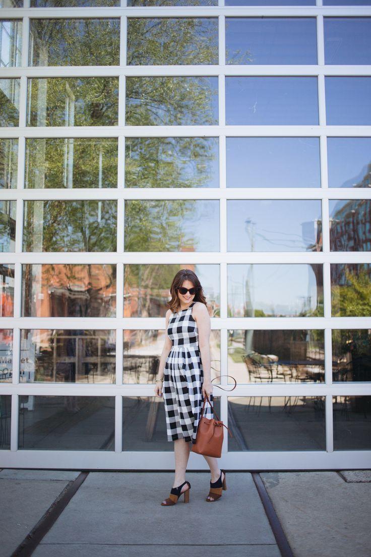 ASOS gingham midi dress || /polishedclosets/