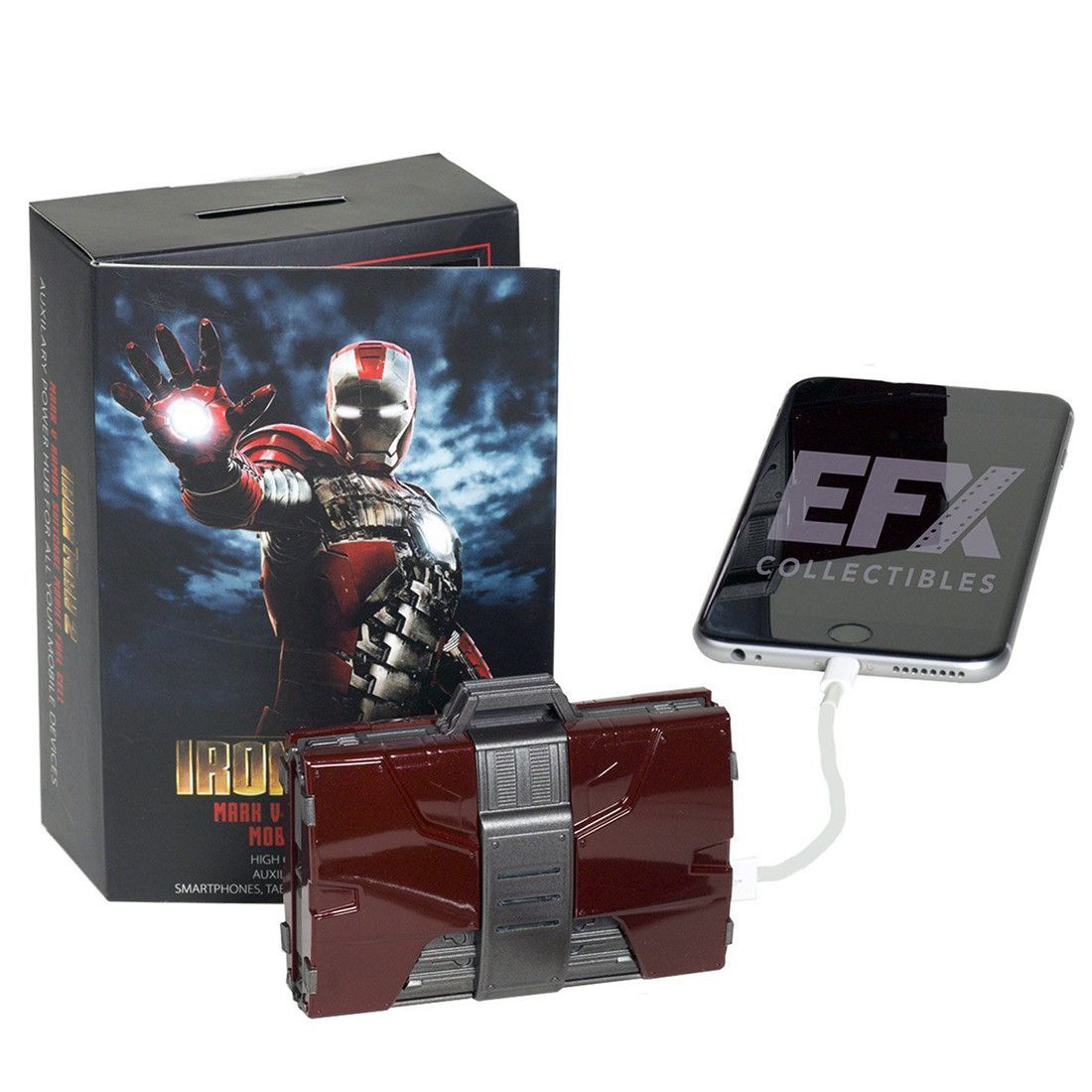 Marvel Iron Man Mark V Armor Suitcase Mobile Battery Charger (1/4 Scale)