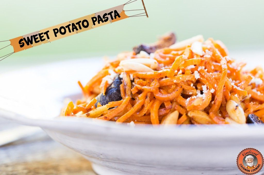 SweetPotatoPasta: Sweet Potato Pasta   Figs, Prosciutto and Goat cheese < yummy Paleo-ish recipe