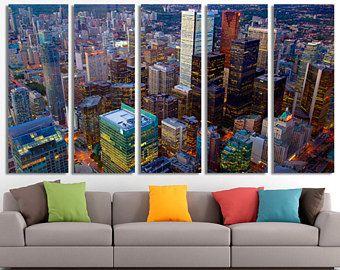 Canada Toronto Art Canvas Wall Decor Home