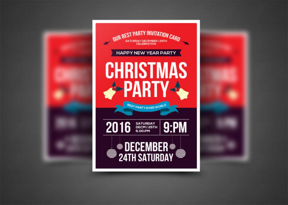 15 Christmas Party Invitation Flyer Templates 15 Christmas Party