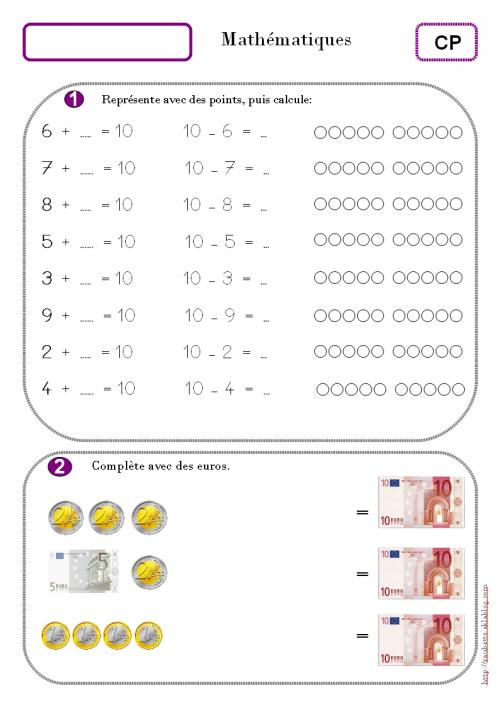 Connu Les compléments à 10. CP | Mathématiques | Pinterest | Cp  RN03