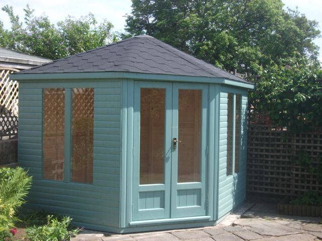 painted corner sheds summerhouse google search - Corner Garden Sheds 7x7