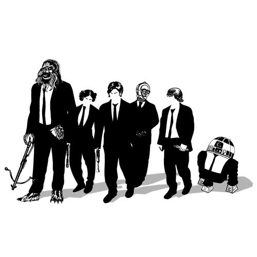 703439111eb Star Wars and Reservoir Dogs mashup t-shirt Star Dogs by Ddjvigo ...