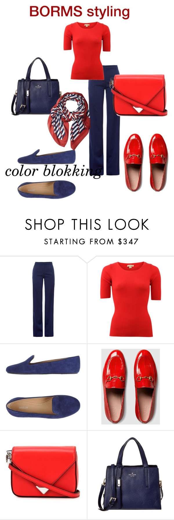 """color blokking"" by cat-line on Polyvore featuring mode, Altuzarra, Michael Kors, Bally, Gucci, Alexander Wang, Kate Spade en Marc Jacobs"