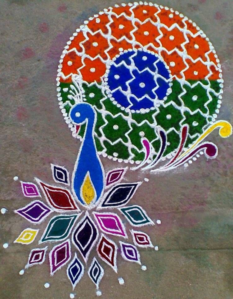 100 Beautiful Rangoli Design For India Independence Day And