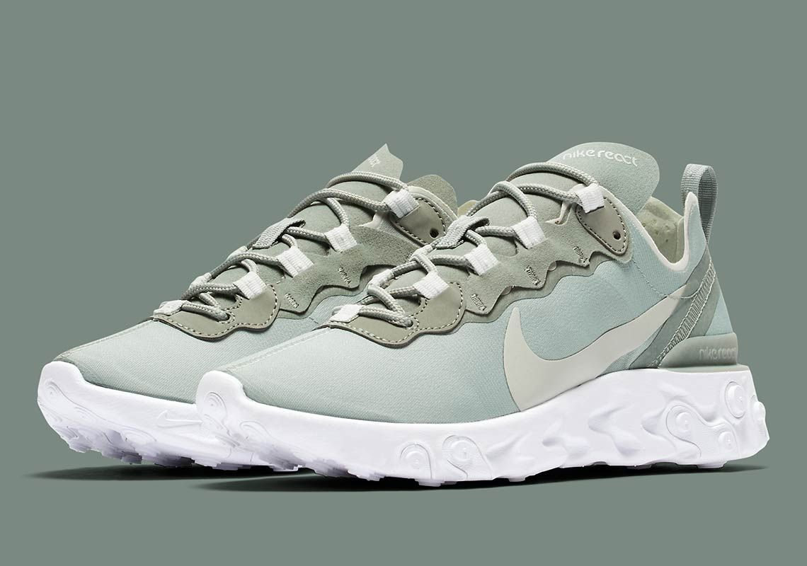 The Nike React Element 55 Is Releasing In Light Olive