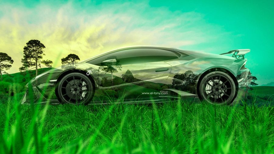 Beautiful Lamborghini Huracan Mansory Tuning Side Crystal Nature Car
