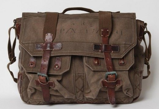 a6fb7453d4 Vintage Ralph Lauren military messenger bag