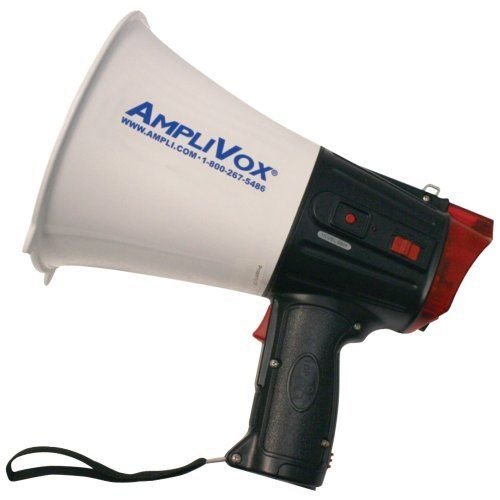 AMPLIVOX S604 SAFETY STROBE 10-WATT MEGAPHONE AMPLIVOX S604 SAFETY STROBE 10-WATT MEGAPHONE by AmpliVox. $213.00. Brand Name: AMPLIVOX Mfg#: S604; Picture may wrongfully represent. Please read title and description thoroughly.; Shipping Weight: 6.77 lbs; Please refer to SKU# ATR24102867 when you inquire.; This product may be prohibited inbound shipment to your destination.. AMPLIVOX S604 SAFETY STROBE 10-WATT MEGAPHONE.10W TALK, SIREN & WHISTLE MODES FLASHING STROBE LIGH...