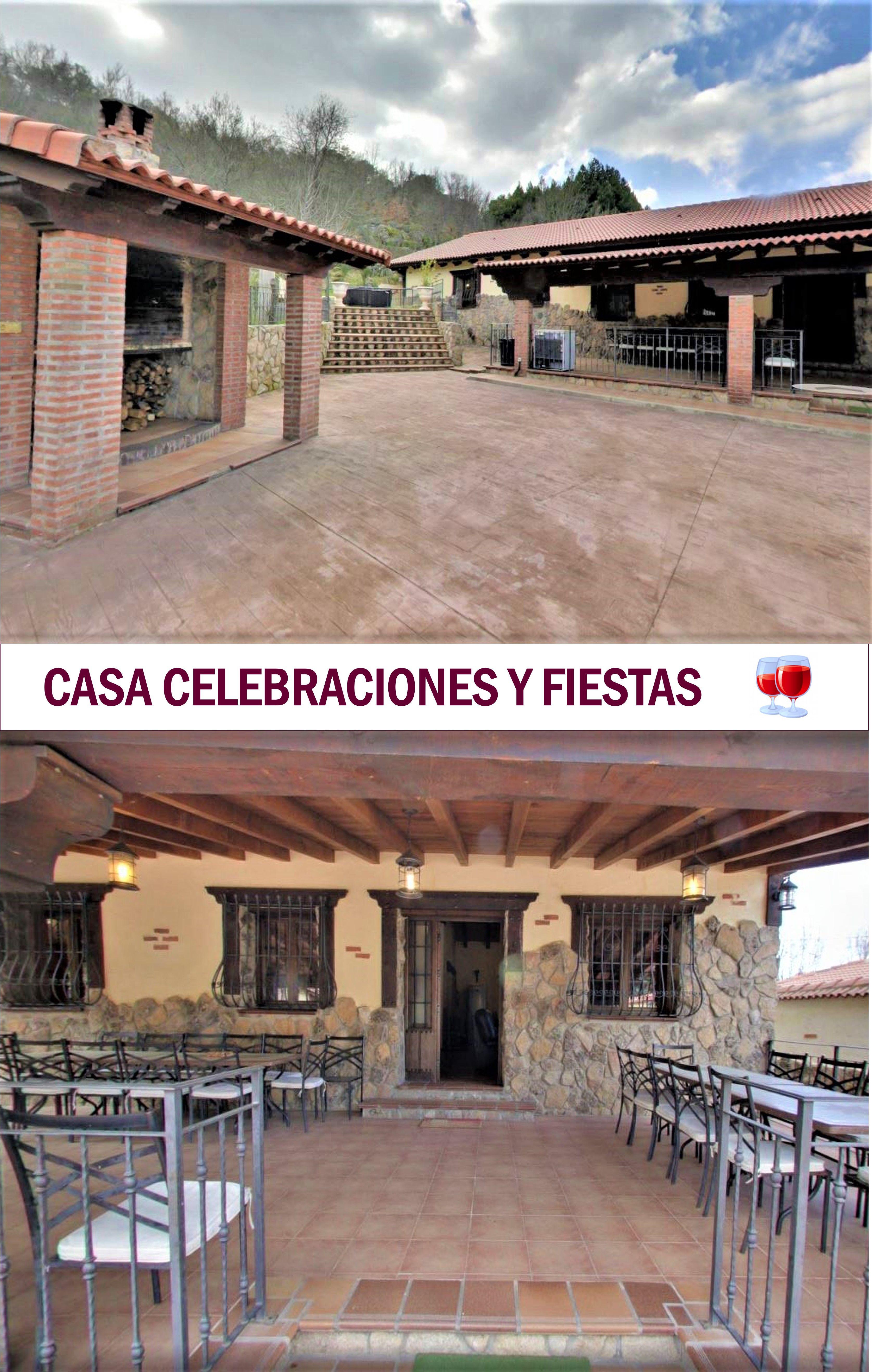 ávila Casa Para Fiestas Y Celebraciones En Navaluenga 7 Hab Chimenea Piscina Jacuzzi Y Barbacoa Casas Rurales Casas Para Fiestas Casas
