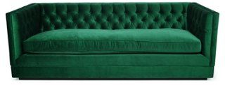 Drooling over this Draper sofa in emerald!