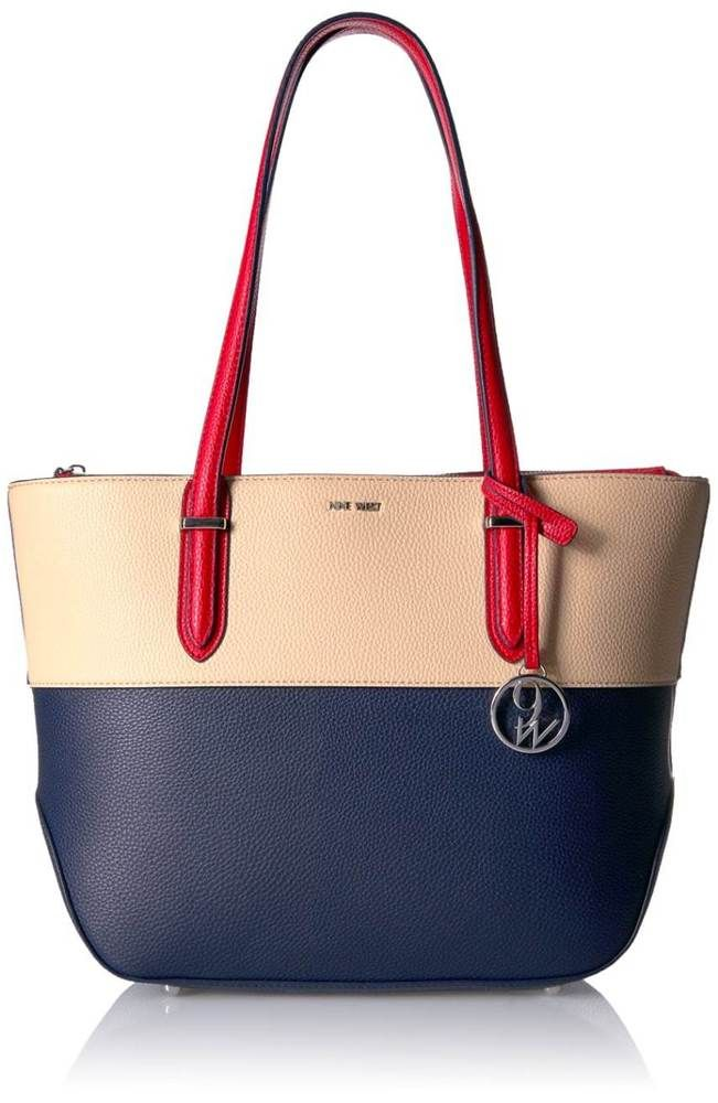New Women 039 S Shoulder Bags Nine West Reana Tote Moody Blue Desert Dynasty Red Clothing Shoes Accessories Handbags