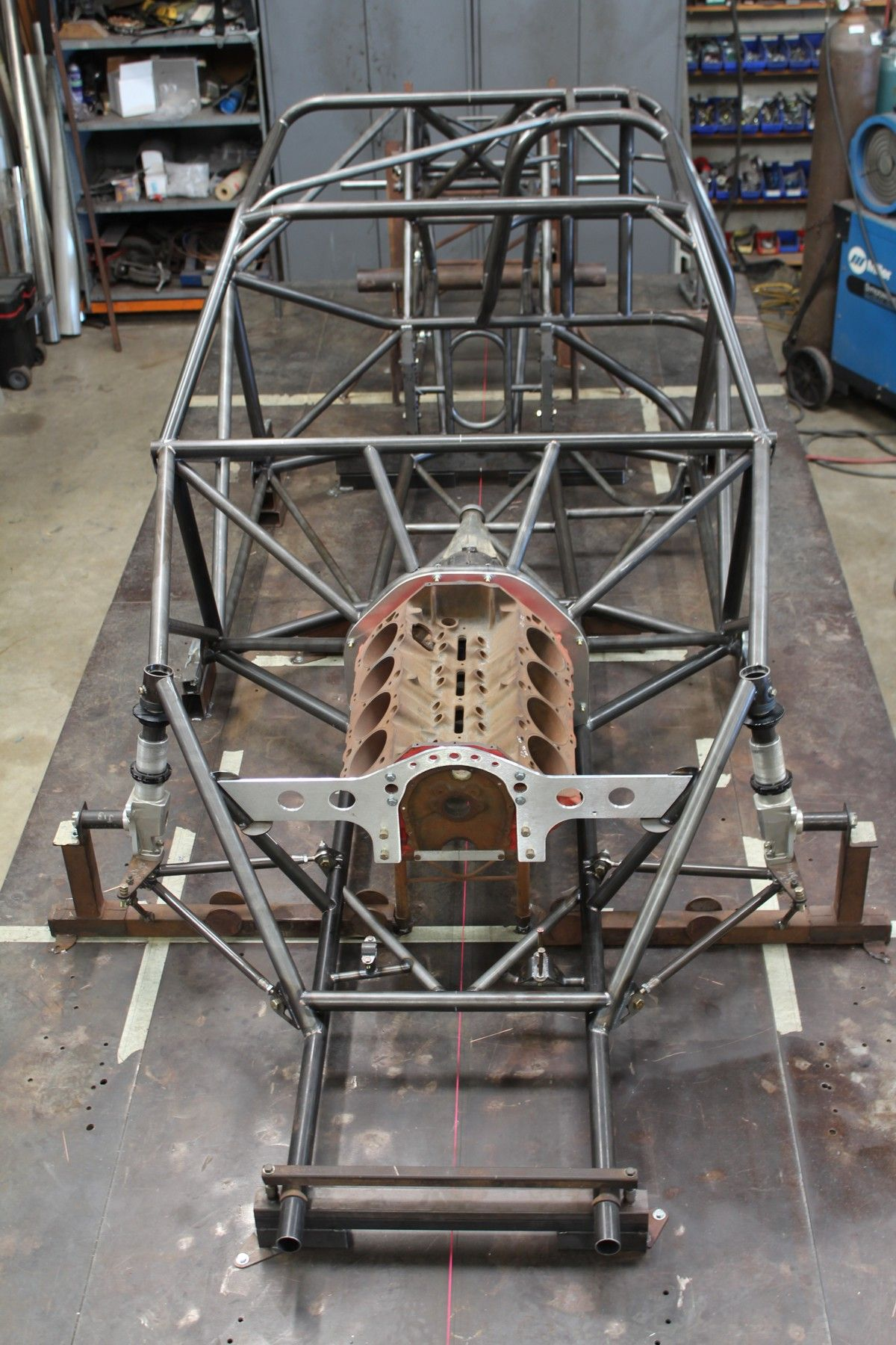 Chassis Front on Table | Cars and motorcycles | Tube chassis