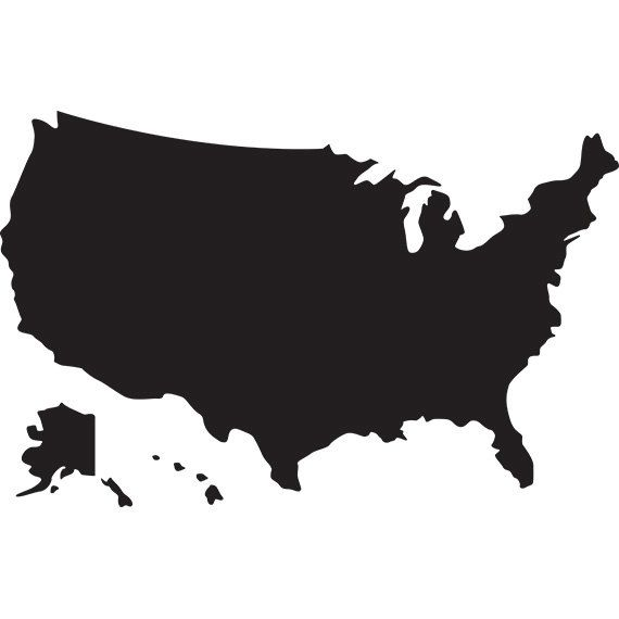 High Quality Usa Map Svg Silhouette Clipart Usa Map Without States And