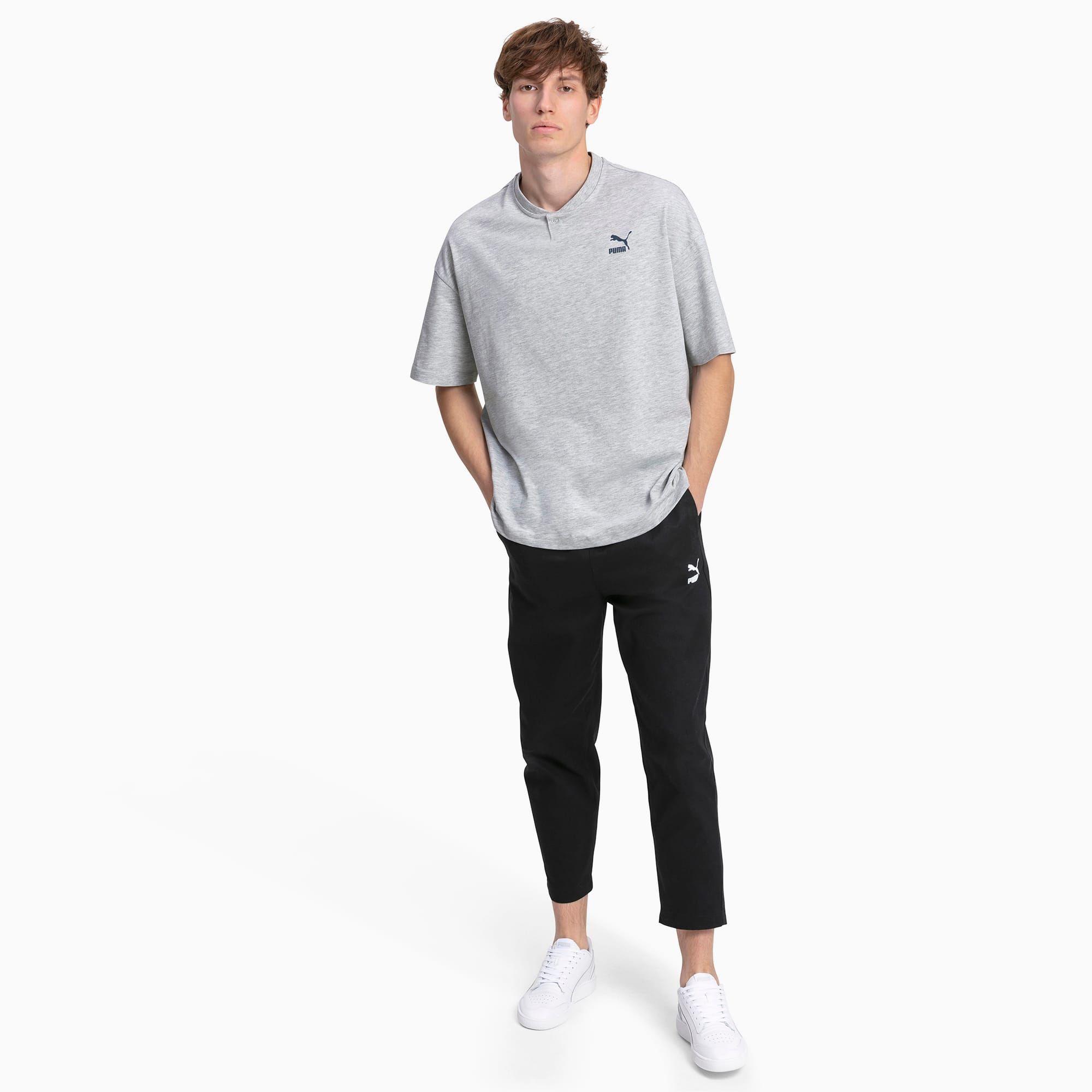PUMA T-Shirt pour Homme, Gris/Bruyère, Taille XL, Vêtements ...