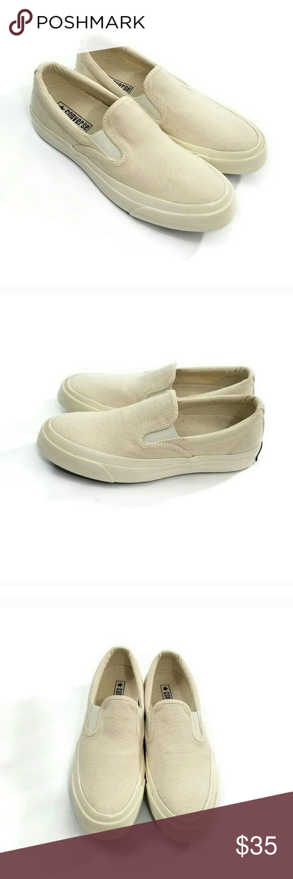 f141ecbf78bfd6 Converse cream colored slip ons So cute but sadly too big for me. US men s  6