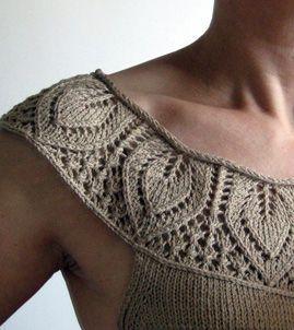 Bildresultat för peacock lace knitting pattern