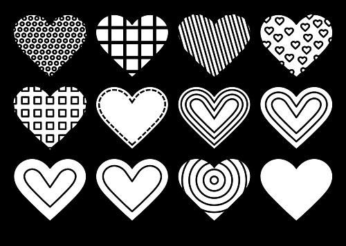 Corazones Con Diferentes Patrones Dibujos Para Colorear Corazones Para Dibujar Amor Para Dibujar Corazon Para Colorear