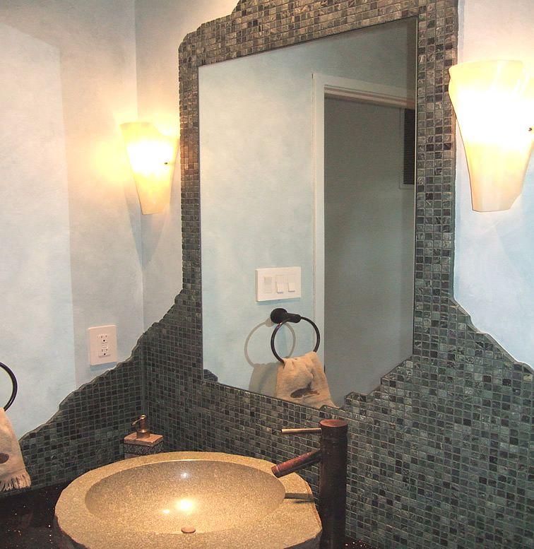 I Like The Idea Of The Tile Around The Mirror Bathroom. Cool Bathroom Vanity  ...