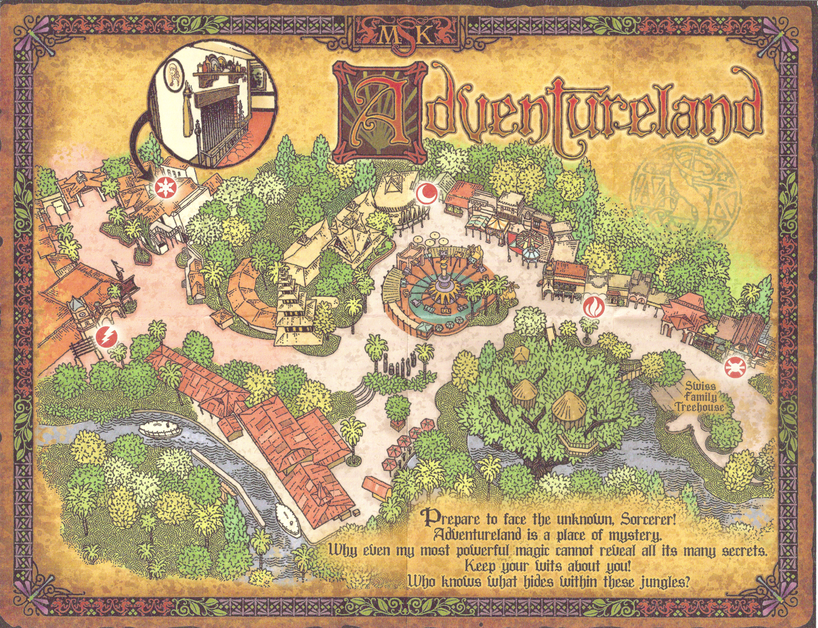 Sorcerers of the Magic Kingdom Map   Adventureland | Adventureland