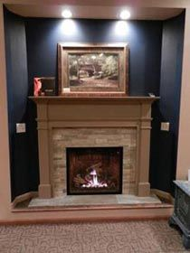 Wondrous Mendota Fv41 Gas Fireplace Full View Gas Fireplace With Home Interior And Landscaping Ologienasavecom