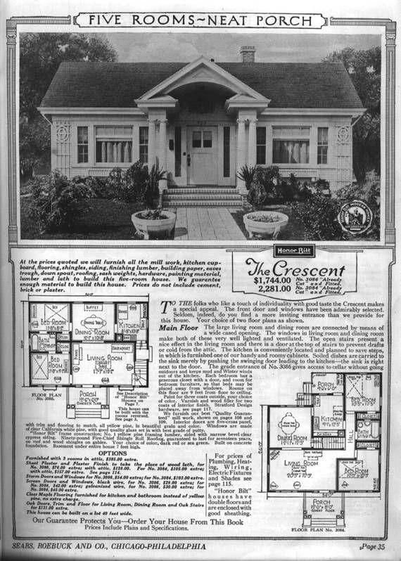 Craftsman Bungalow House Plans Circa 1932