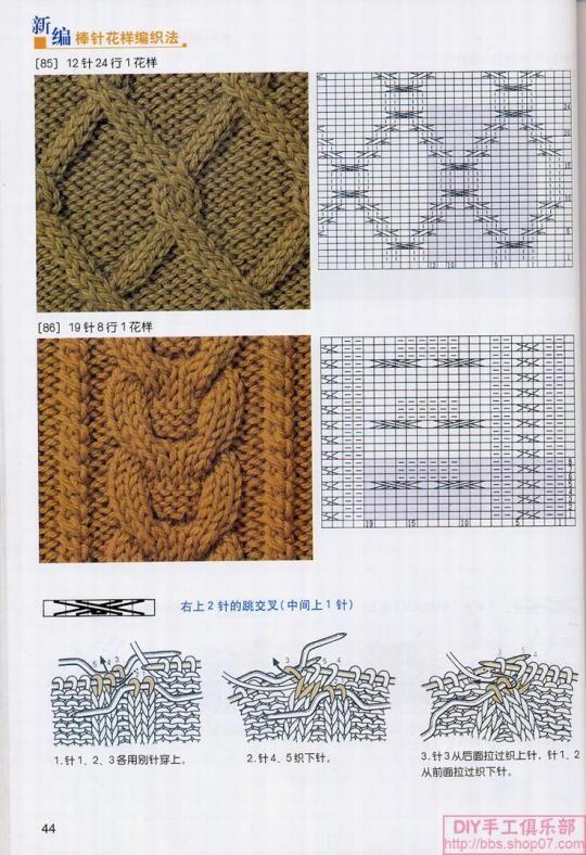 knitting cable patterns @ Afshan Shahid   tejido de punto ...