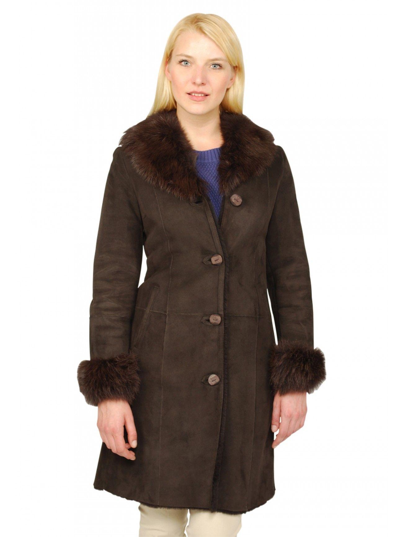 Dahlia Shearling Coat 100% Genuine Spanish Merino Shearling Coat ...