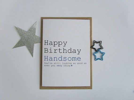 Male Birthday Cards Funny ~ Happy birthday handsome card funny male birthday card card for