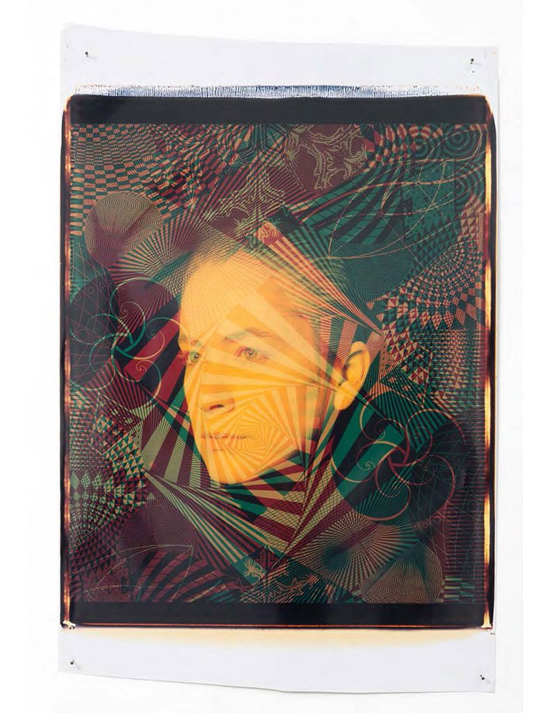© Ellen Carey Self-Portrait, 1987. Unique 20 x 24 Polaroid