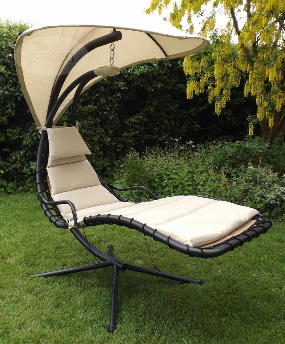 Black Dream Chair Garden Hammock Canopy Swing Sun Lounger Sun Seat Relaxer    Garden Furniture   Pinterest   Garden Hammock And Gardens