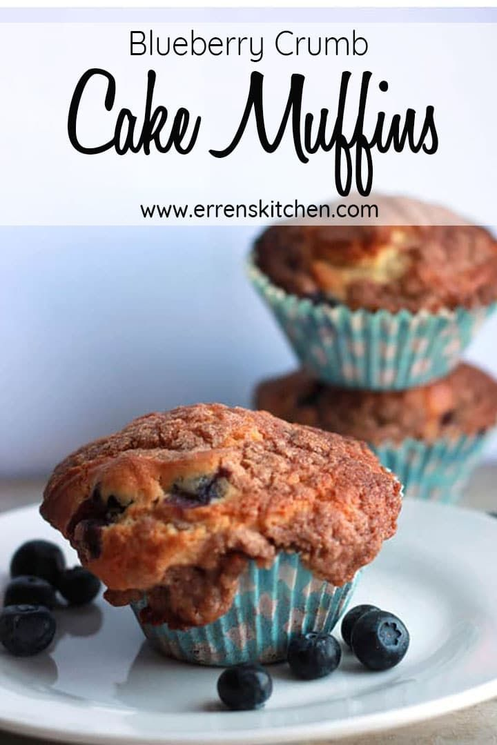 Blueberry Crumb Cake Muffins This easy recipe for Blueberry Crumb Cake Muffins is the best, why buy store brought when you can make homemade, bursting with fruity flavor and topped with Crumb Topping, you will wonder why you haven't made these before.
