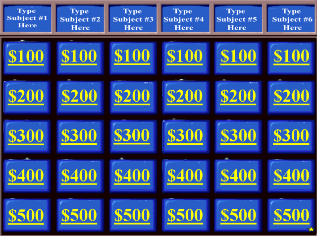 Review and teach with these free jeopardy powerpoint templates review and teach with these free jeopardy powerpoint templates three daily doubles sunday schoolmiddle toneelgroepblik Gallery