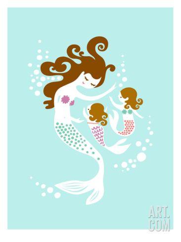 'Mermaid Daughters' Art Print - The Paper Nut | Art.com