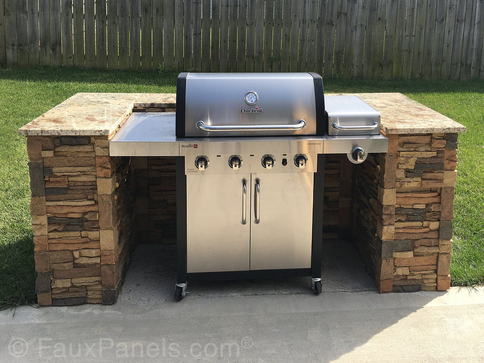 Commercial Home Renovation Ideas Stone Siding Photos Faux Stone Panels For Fancying Up The Grill Outdoor Remodel Outdoor Grill Station Outdoor Grill Area