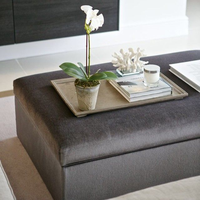 Gorgeous Ottoman Coffee Table Home Pinterest Grey Ottomans And Ps